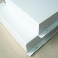 白色勾搭式冲孔铝单板定制