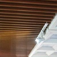 城墙U槽木纹铝方通吊顶定制