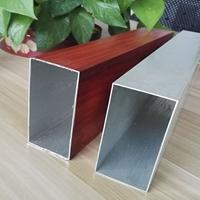 仿古木纹色铝方通外墙装饰 50100mm方通