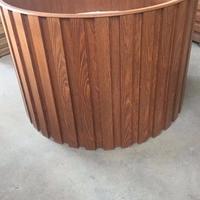 铝合金花箱 铝合金仿木纹花盆厂家定制