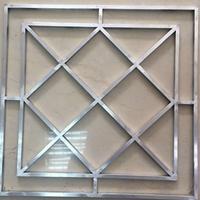 街道安装铝合金防护窗花-铝合金防盗网花格