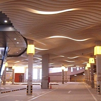 木纹弧形铝方通吊顶高端铝方通厂家