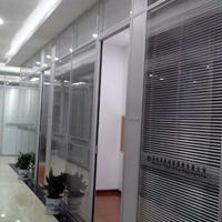 玻璃隔断、中空玻璃百叶隔断