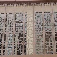 湖南长沙家居装饰木纹铝屏风加工厂