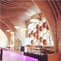 定制烧焊铝方通  贵阳咖啡厅装饰弧形方通